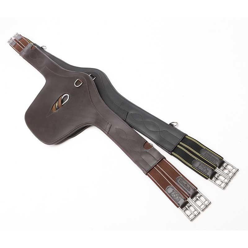 55558906418c1 KAVALKADE Popręg skórzany z fartuchem i elastycznymi gumami po obu stronach